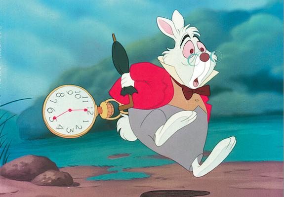 Digitize-drawingas-expectation: rabbit running with clock